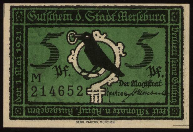 Notgeld - 5 Pfennig Merseburg
