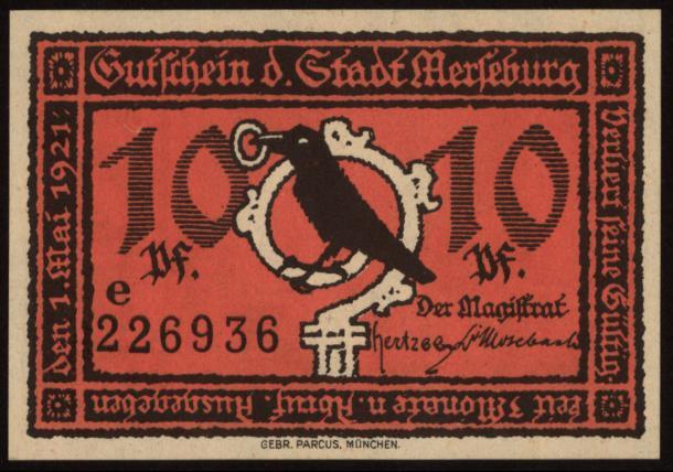 Notgeld - 10 Pfennig Merseburg