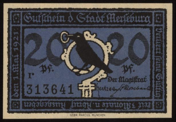 Notgeld - 20 Pfennig Merseburg