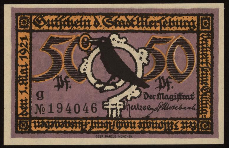 Notgeld - 50 Pfennig Merseburg