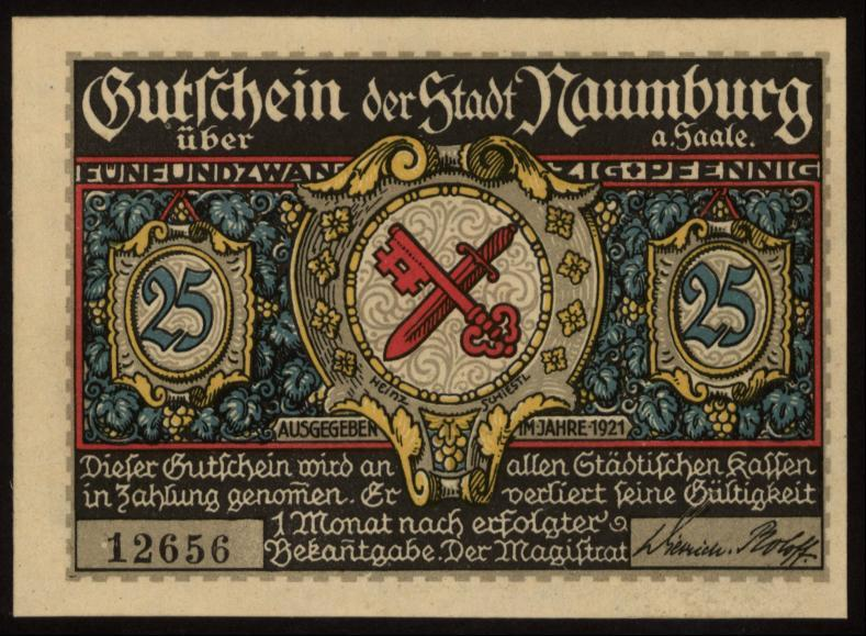 Notgeld - 25 Pfennig Naumburg