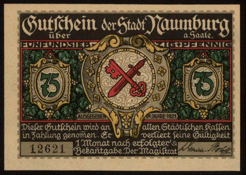 Notgeld - 75 Pfennig Naumburg