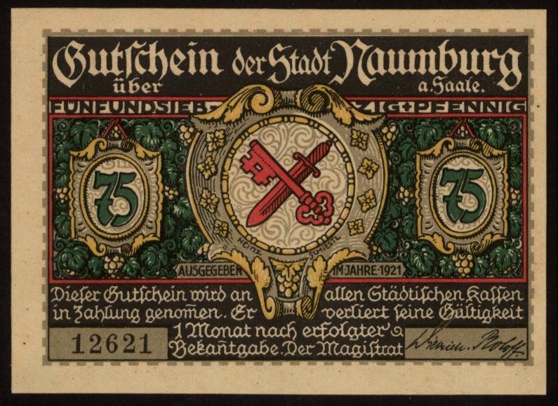 Notgeld - 75 Pfennig Naumberg