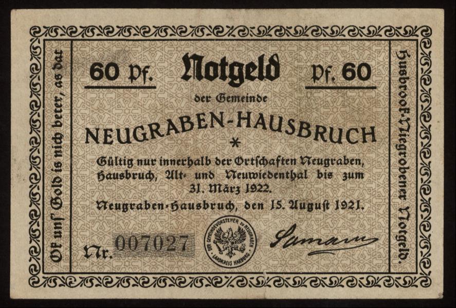 Notgeld - 60 Pfennig Neugraben