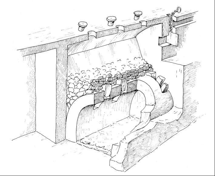Rekonstruktion der indirekten Heizungsanlage im Augustinerkloster (nach Palmowski 1986).