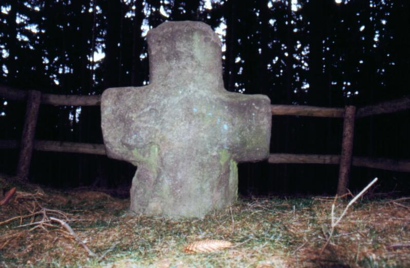 Ostseite des Steinkreuzes Krumme Birke.