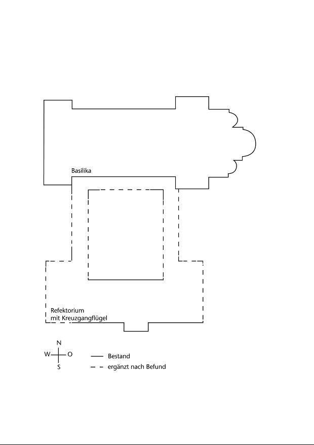Plan der Klosteranlage von Mildenfurth nach Eichhorn 2002.