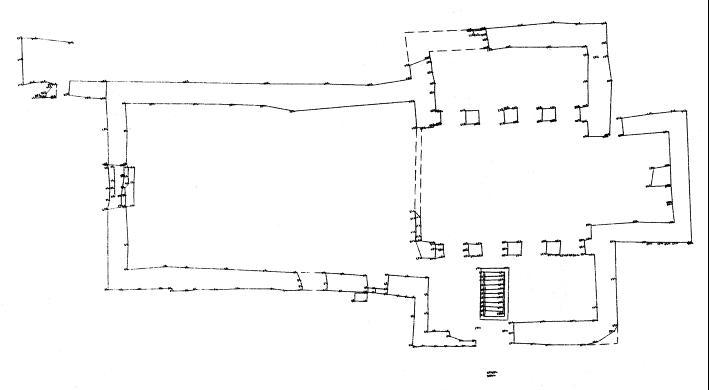 Grundriss der Kirche aus dem Jahr 2005.