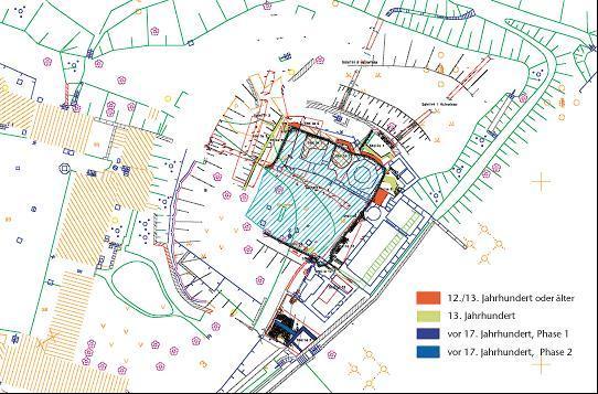 Übersichtsplan der Ausgrabungsergebnisse aus dem Jahr 2003.