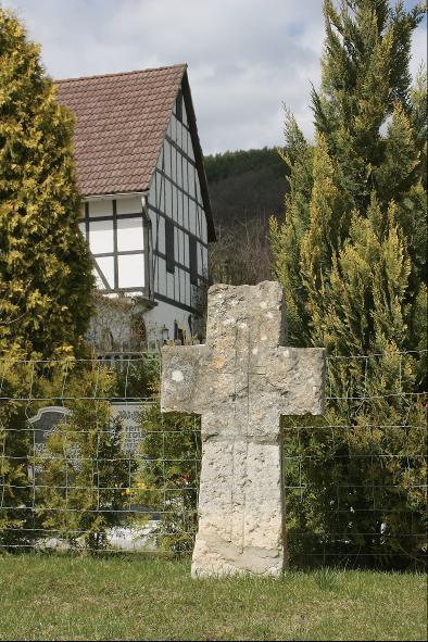 Das Steinkreuz in Dienstädt.