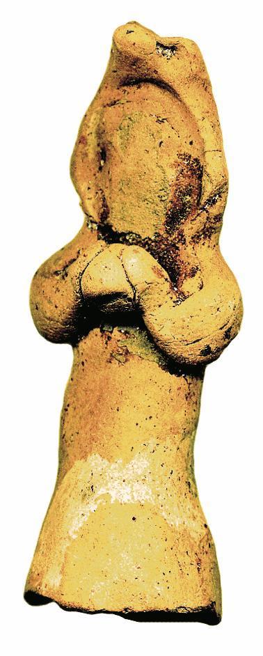 Unter den Funden der Kleinen Rabsburg befand sich auch diese 7,3 cm hohe Tonfigur.