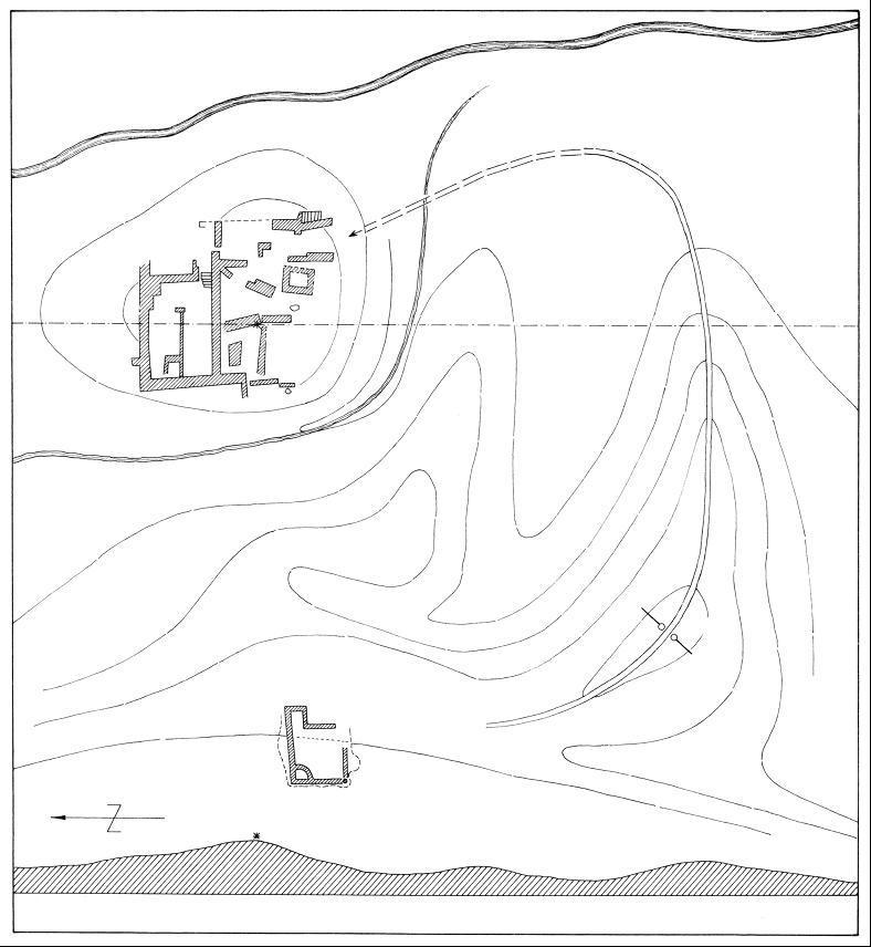 Grabungsplan der Wasserburg (nach Möbes / Timpel 1987).