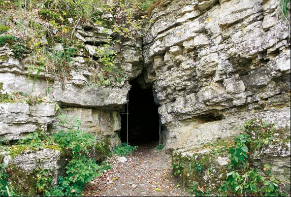 Der Eingang zur Venushöhle.