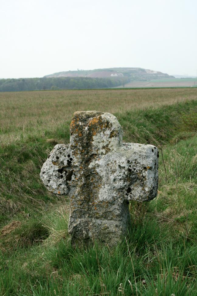 Das Steinkreuz bei Holzthaleben erinnert wohl an eine Gewalttat.
