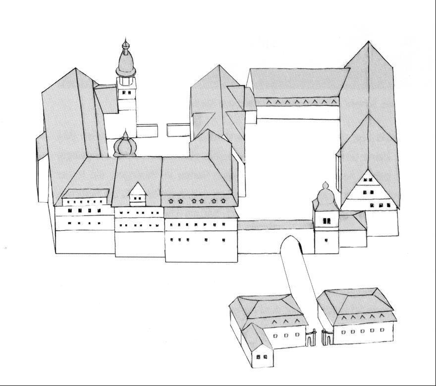 Das Ebelebener Schloss in seinem Erscheinungsbild nach Ende des Dreißigjährigen Krieges.