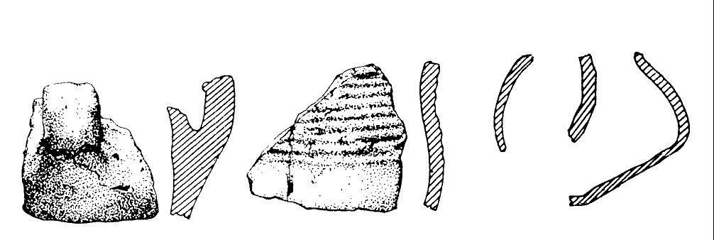 Keramikfunde aus einem der mittelbronzezeitlichen Grabhügel bei Schweina (nach Feustel 1958).