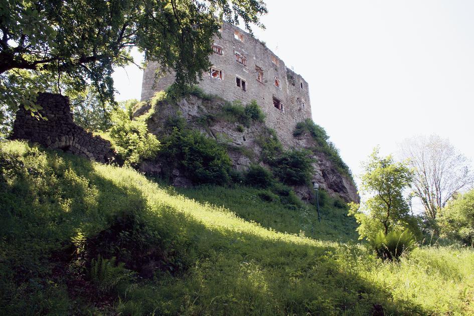Die Burgruine Bad Liebenstein von Norden.