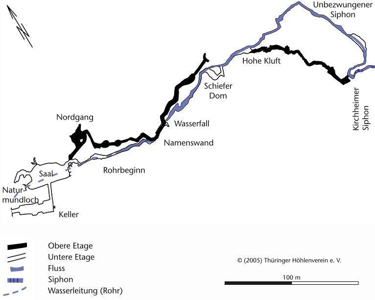 Grundrissplan der Liebensteiner Höhle (nach Fohlert 2005).