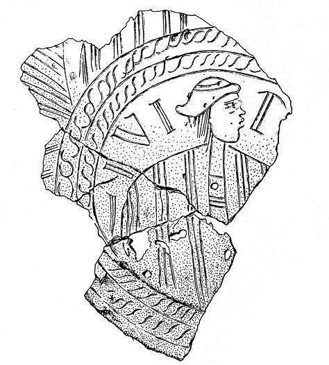 Teile der gravierten Bronzeschüssel von Burg Frankenstein (nach Schimp  1981).