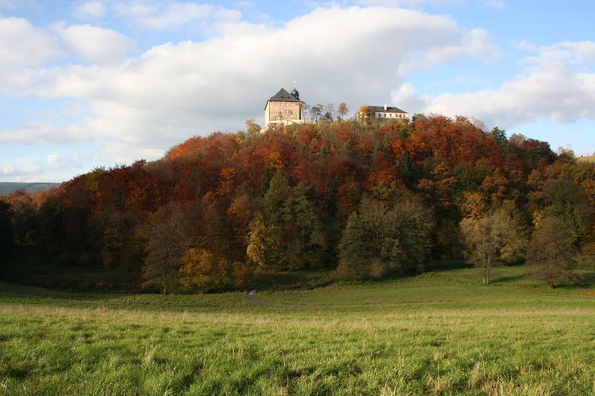 Das barocke Schloss Brandenstein bei Ranis hatte einen mittelalterlichen Vorgänger.