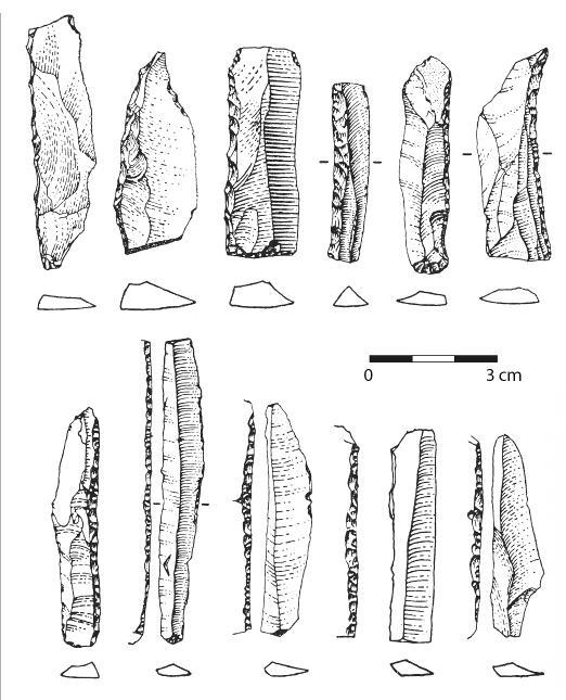 Funde vom Felsendach Theure (nach Feustel/ Teichert/ Unger 1962/63).