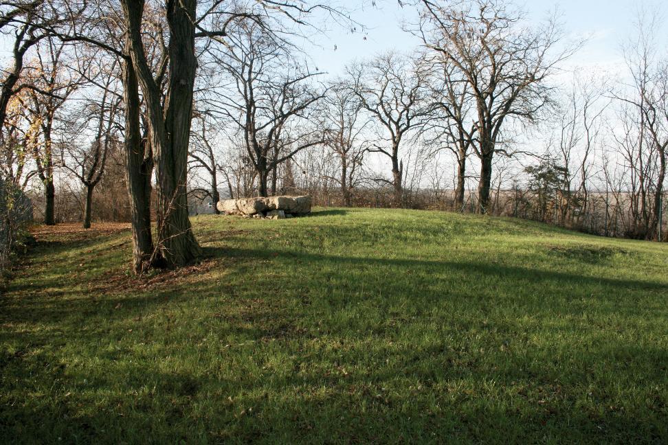 Blick auf den Bettelstein der Karl-Friedrichs-Höhe bei Flurstedt.