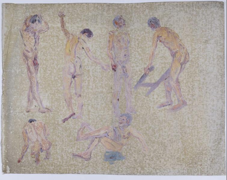 Gruppe nackter Männer