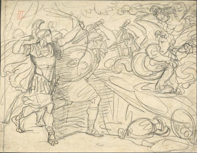 Römische Krieger im Kampf