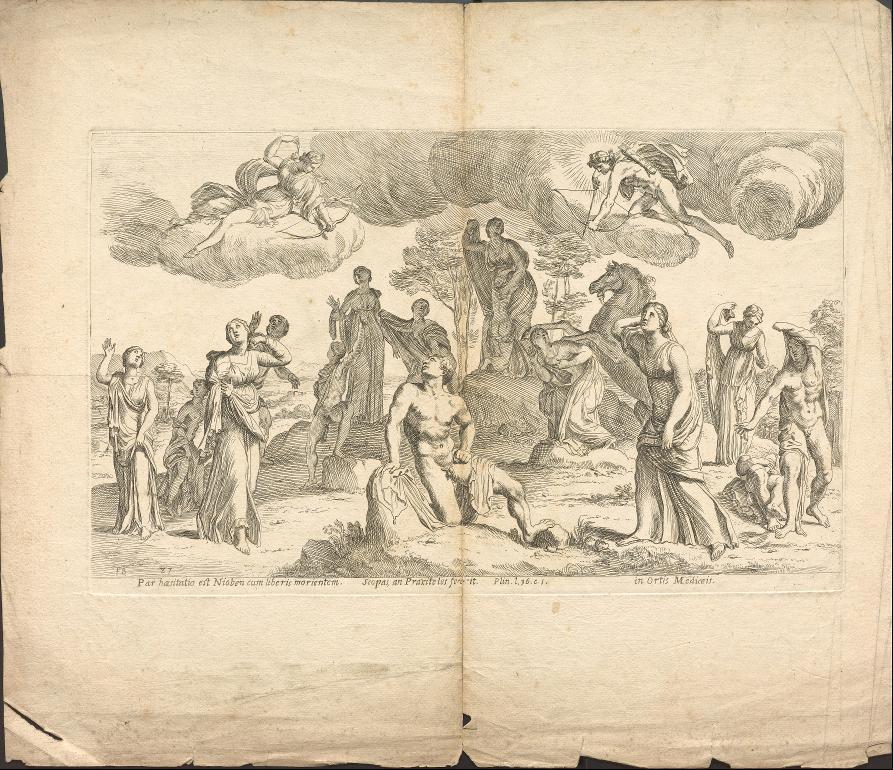 Apollon und Artemis töten die Kinder von Niobe